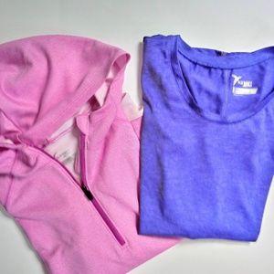 Girls Purple & Pink Athletic Top Lot 12